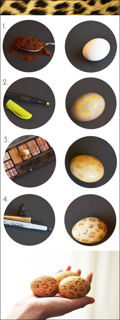 leopard print easter egg tutorial