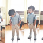 baby suspenders collage