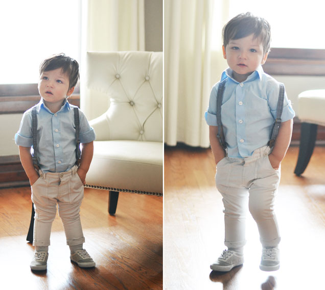 baby suspenders, 19 months
