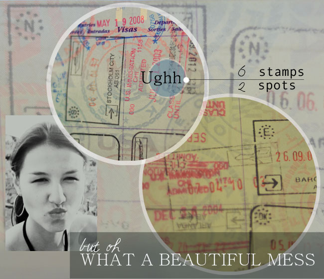 what a beautiful mess | passport stamps