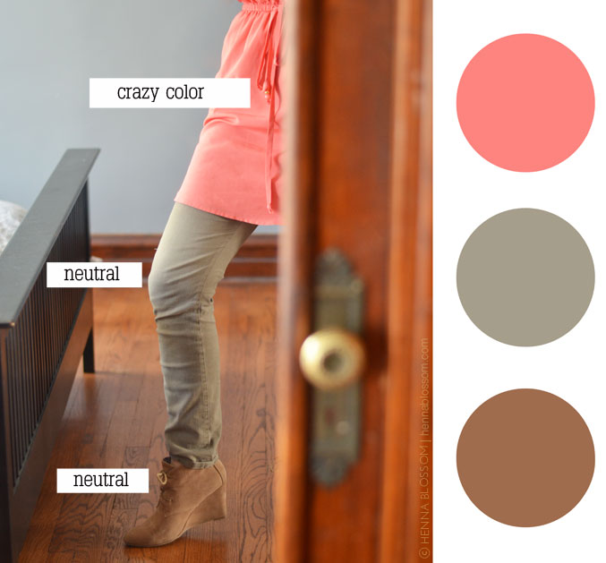 pop of color with neutrals | hennablossom.com
