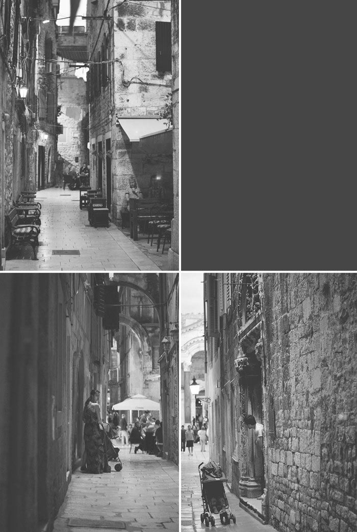 Split, Croatia at Night: Traveling in Europe with a Toddler