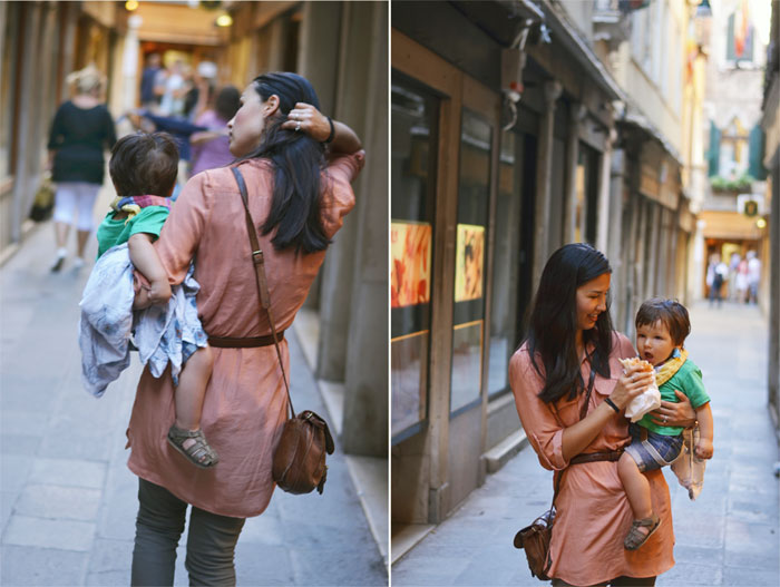 traveling with a toddler. Venice, Italy