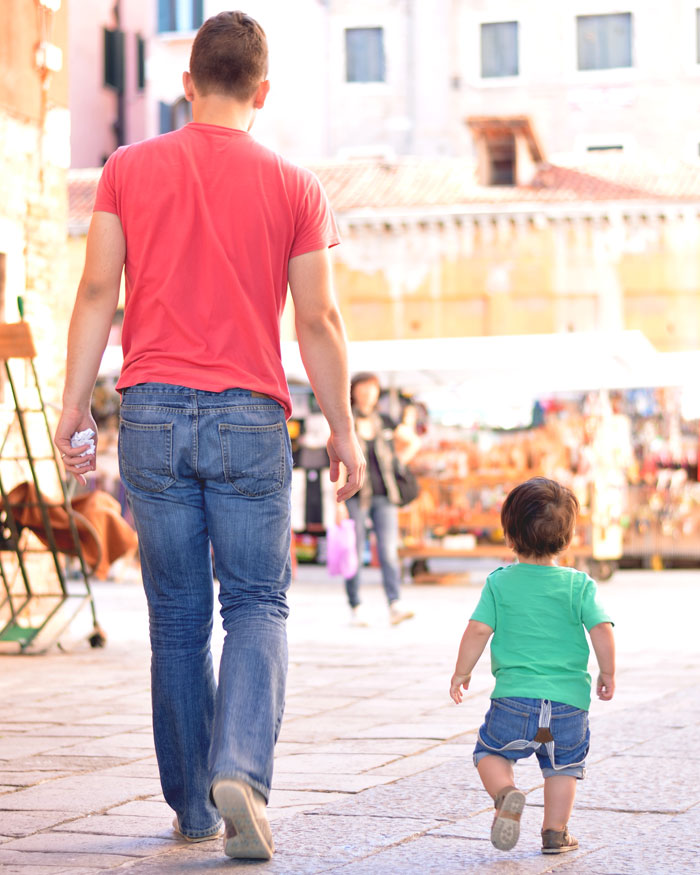 toddler suspenders! the boys in Venice, Italy