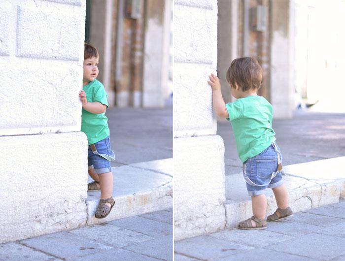 baby suspenders. Venice, Italy
