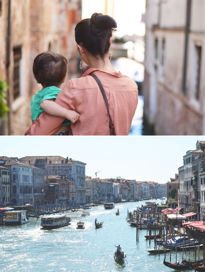 Venice, Italy with a toddler