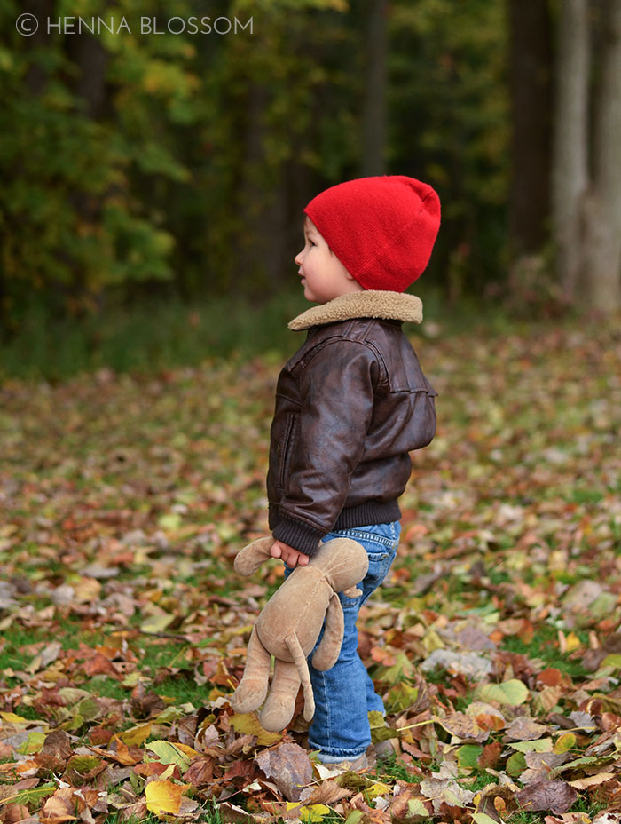 fall toddler photo